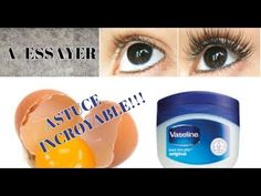 [ ASTUCE ] FAIRE POUSSSER SES CILS EN UNE NUIT?!?! sans huile de ricin - YouTube Vaseline, Auj, White Out, Homemade, Youtube, Beauty, Nature, How To Grow Eyelashes, Make Eyebrows Grow
