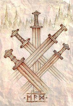 migration swords by Cedarlore Forge, via Flickr