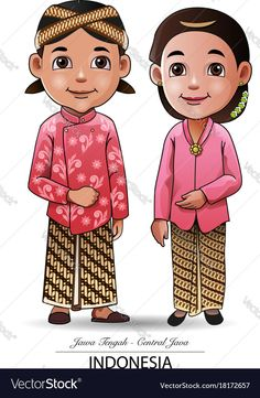 Find Vector Illustration Javanese Traditional Clothing stock images in HD and millions of other royalty-free stock photos, illustrations and vectors in the Shutterstock collection. Thousands of new, high-quality pictures added every day. Free Kids Coloring Pages, Coloring For Kids, Vector Graphics, Vector Free, Vector Vector, Kids Vector, Traditional Outfits, Traditional Art, Bride And Groom Cartoon