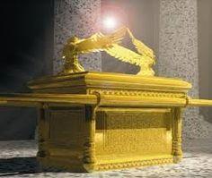 Mercy Seat with Cherubim, pillars in background