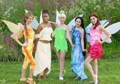 halloween costumes PATTERN and tutorial for TinkerBell Adult by enchantedcostumes Costumes Halloween Disney, Halloween Costumes For Teens Girls, Couples Halloween, Halloween Outfits, 5 Person Halloween Costume, Costumes For 3 People, Disney Group Costumes, Zombie Costumes, Group Costumes For 4