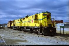 AOK 1791   Description:  Early days of the AOK saw two Ft Smith RR GP9s leased for the road power. Note the Christmas wreath. These units yielded to two Alco C420s and went back to FSR   Photo Date:  1/1/1998  Location:  Wilburton, OK   Author:  John Schumann  Categories:    Locomotives:  AOK 1791(GP9) AOK 1902(GP9)