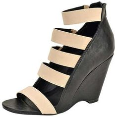 Qupid Two Tone Wedge Back Zipper Dress Shoes Quisaac-93x Black * Click image to review more details.