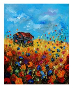 Pol Ledent Old barn and wild flowers print for sale. Shop for Pol Ledent Old barn and wild flowers painting and frame at discount price, ships in 24 hours. Art Original, Original Paintings, Painting Prints, Art Prints, Poster Online, Barn Art, Detail Art, Oeuvre D'art, Painting Inspiration