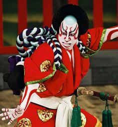 A kabuki actor in Japan