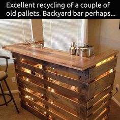 DIY Wood Pallet Bar
