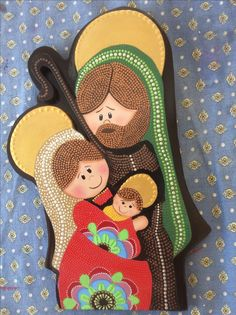 Clay Christmas Decorations, Christmas Wood Crafts, Christmas Nativity, Christmas Projects, Christmas Holidays, Holiday Decor, Christmas Stockings, Religious Icons, Holy Night