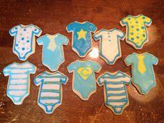 Baby Boy Onsie Cookies