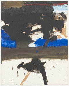 Robert Motherwell (American, 1915-1991), Collage with Ultramarine Blue, 1972…