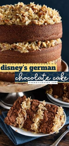 Homemade Desserts, Easy Desserts, Delicious Desserts, Dessert Recipes, Sweet Desserts, Dessert Ideas, Yummy Food, German Chocolate Cake Frosting, Chocolate Desserts