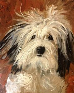 Fine art sketches Daily Paintworks - In Need of a home - Original Fine Art for Sale - Annette Balesteri Dog Illustration, Illustrations, Animal Paintings, Animal Drawings, Bichon Havanais, Old English Sheepdog, Dog Portraits, Dog Art, Dog Pictures