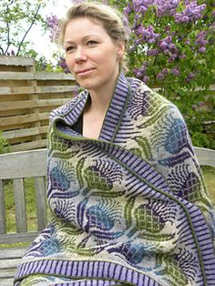 Flowers of Scotland Blanket - stranded and Ste-eeeekkkked. I need courage...this is stunning!