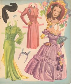 vintage movie star pper dolls | Hedy Lamarr | Gabi's Paper Dolls