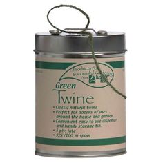 Garden twine is a basic garden tool; I love that this one comes in a tin with a built in cutter.