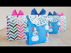 How to Make DIY Holiday Party Gift Bags - YouTube