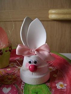 You still have several weeks before the Easter holidays, but nothing . - You still have several weeks before the Easter holidays, but nothing . Clay Flower Pots, Flower Pot Crafts, Bunny Crafts, Clay Pots, Easter Crafts, Crafts For Kids, Clay Pot Projects, Clay Pot Crafts, Easter Projects