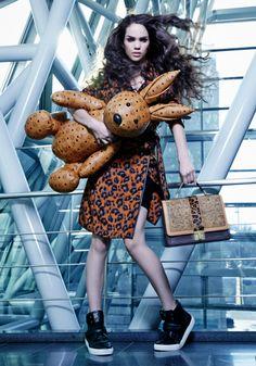 "thefashionbubble: "" Lenox Tillman, America's Next Top Model S21E12: MCM Bags Photoshoot. """