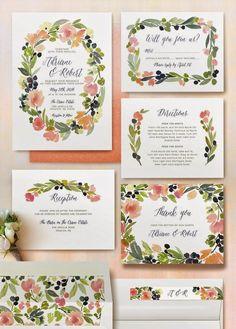Bodas una Imagen, un Escaparate: Invitaciones y detalles de papel con flores.
