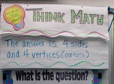 Think Math - Activities for Fast Finishers
