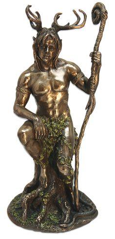 The Greenman,Cernunnos/Herne the Hunter ...Cernunnos Statue By Artist Unknown...