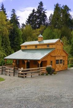 A New Barn... maybe we could tear down our old barn, salvage the wood and build this one... love this barn!