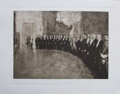 Diner Stephans-Appartement Hofburg, Franz Joseph I - Heliogravur aus 1908