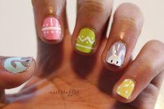 Easter Nails - Pastel Each Nail