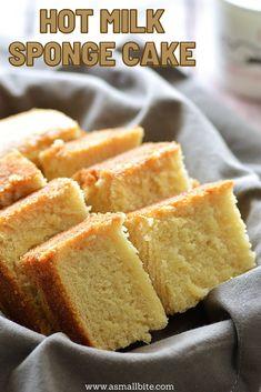 Eggless Carrot Cake, Eggless Vanilla Cake Recipe, Eggless Sponge Cake, Eggless Recipes, Eggless Baking, Baking Recipes, Hot Milk Sponge Cake Recipe, Recipe Using Milk, Hot Milk Cake