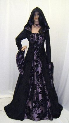 Gowns Pagan Wicca Witch:  Hooded Renaissance #gown.