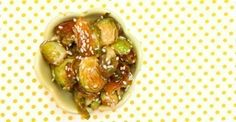 honey + sesame brussels sprouts
