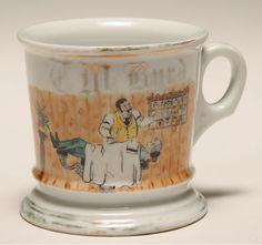 Occupational shaving mug, Barber. Gilt trim, german ink stamp. Good condition, minor wear.