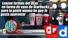 Lanzan termos del Oxxo en forma de vaso de Starbucks