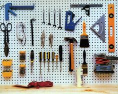 Great uses for pegboard...I need this in the garage!!!!