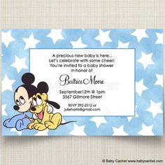 Souza Baby - Disney Baby Mickey Pluto Baby Shower Invitations