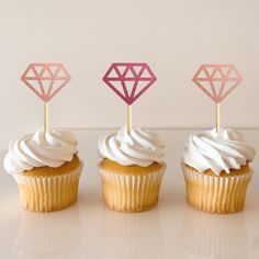 Cupcake Toppers, Wedding Cake Toppers, Bachelorette Party Desserts, 2nd Wedding Dresses, Happy Fathers Day Cake, Bridal Shower Cupcakes, Party Wedding, Wedding Events, Wedding Ring