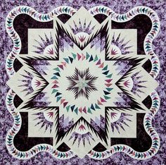 Glacier Star ~Quiltworx.com, made by Certified Instructor Vickie Wall