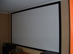 Carls Blackout Cloth, DIY Projector Screen, Raw Material/Fabric, 66x110-inch, Matte White, 16:9/1.0 by Carls Place, http://www.amazon.com/dp/B007KA07YM/ref=cm_sw_r_pi_dp_utYzrb0DRS4YD   Use in order to make outdoor movie screen
