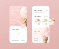 Ice Cream designed by Anastasia Marinicheva for Neentech. Connect with them on Dribbble; the global community for designers and creative professionals. Ui Design Mobile, App Ui Design, Interface Design, Dashboard Design, Design Web, User Interface, Design Food, Pop Design, Graphic Design
