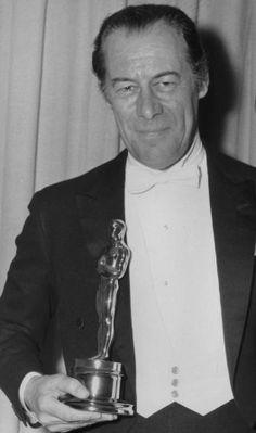 "Rex Harrison - Best Actor Oscar for ""My Fair Lady"" 1964 Golden Age Of Hollywood, Vintage Hollywood, Hollywood Stars, Classic Hollywood, Academy Award Winners, Oscar Winners, Academy Awards, Best Actress, Best Actor"