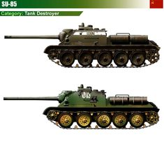 SU-85 Tank Destroyer