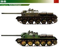 SU-85 Tank Destroyer