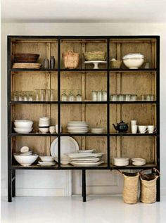 Open dish shelf