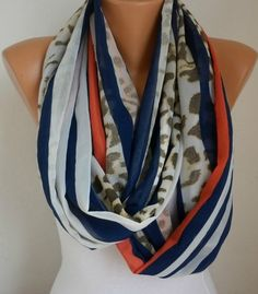 Infinity Scarf Shawl Circle Scarf  Loop Scarf Summer by anils, $16.00