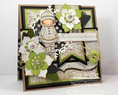 I made this card with one of my all time fave Pure Innocence stamps...Warm Wishes. I used the Snowflake Doily Die-namics, Winter Roses Die-namics and the Bracket Edge Duo Die-namics.