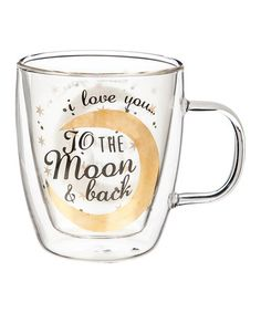 Look what I found on #zulily! I Love You Double-Wall Glass Coffee Mug #zulilyfinds