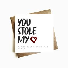 Personalised 'You Stole my Heart' Birthday Card - Ashley Higgins Design