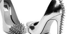 Heels  Silver Spikes