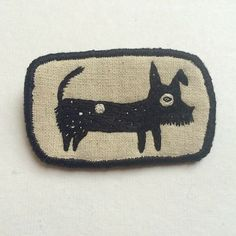 "Pet Brooch ""Galaxy"" - Funny Dogs collection hand embroidery textile jewelry by…"