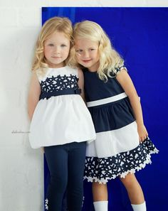 ALALOSHA: VOGUE ENFANTS: Striking a balance between modernity and romanticism is a new breath of the Spring/Summer 2015 collection for girls from ELSY Baby Girl Party Dresses, Little Girl Dresses, Baby Dress, Girls Dresses, Moda Chic, Kids Frocks, Estilo Fashion, Stylish Kids, Kids Wear