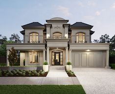 Classic House Exterior, Modern Exterior House Designs, Classic House Design, Bungalow House Design, Modern House Design, Modern House Facades, Exterior Design, Luxury Homes Dream Houses, Luxury House Plans